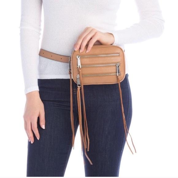 Rebecca Minkoff Handbags - Rebecca Minkoff Leather 3 Zip Belt Bag